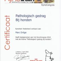 Kynotrain Pathologisch gedrag Marc Dröge