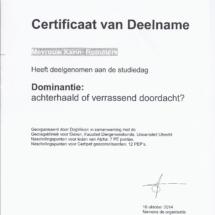 Studiedag Dominantie Karin Rommers