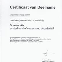 Studiedag Dominantie Marc Dröge